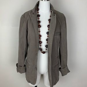H&M Brown Taupe Two-Button Faded Blazer